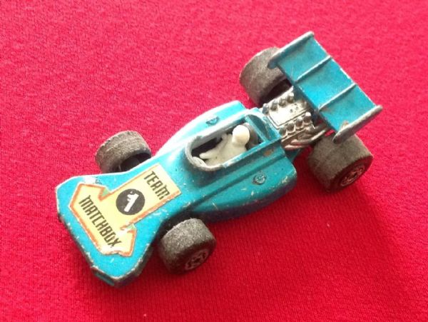 Matchbox Superfast No 24 Team Matchbox Blue with racing Number 1